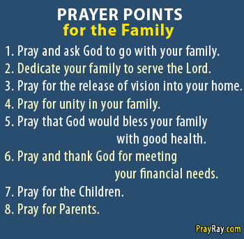 8 PRAYER POINTS FOR THE FAMILY Most important for Breakthrough