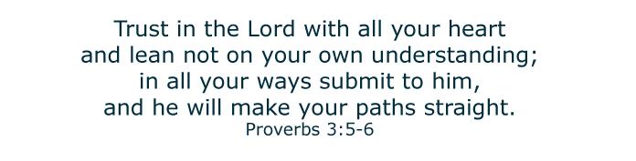 Bible verse Proverbs 3:5-6