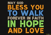 GOD BLESS YOU AND KEEP YOU prayer