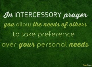 Intercessory prayer example