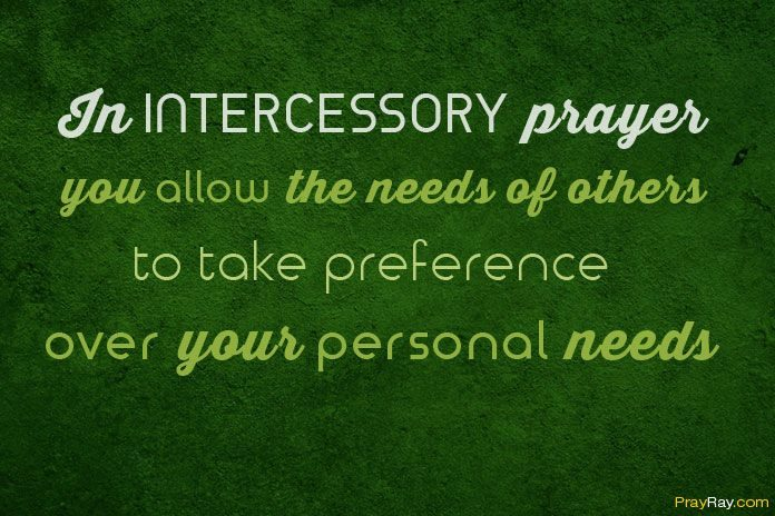 Intercessory prayer example