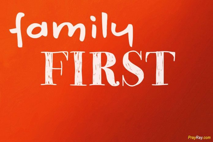 Prayer for family first