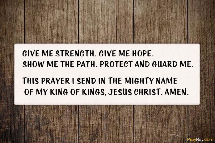 PRAYER FOR HOPE, FAITH, PEACE AND STRENGTH