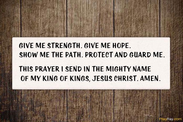 PRAYER FOR HOPE, FAITH, PEACE AND STRENGTH