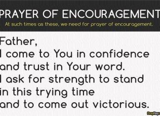 Prayer of encouragement