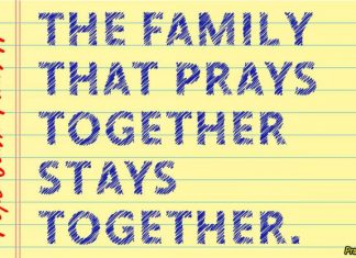 Short family prayer