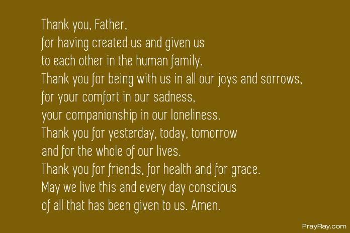 thanksgiving prayer catholic