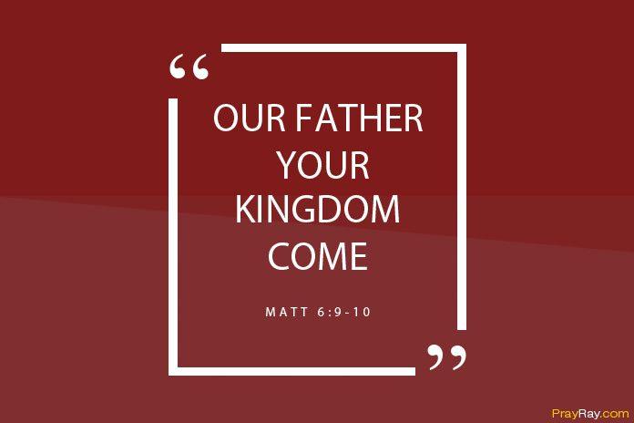 The Lord's prayer Jesus taught us
