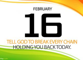 Daily prayer God break past