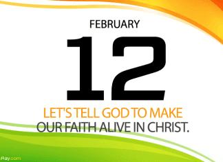 Daily prayer alive faith