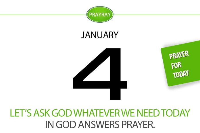 Daily prayer ask God answers prayer
