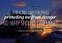 Truck drivers prayer protection