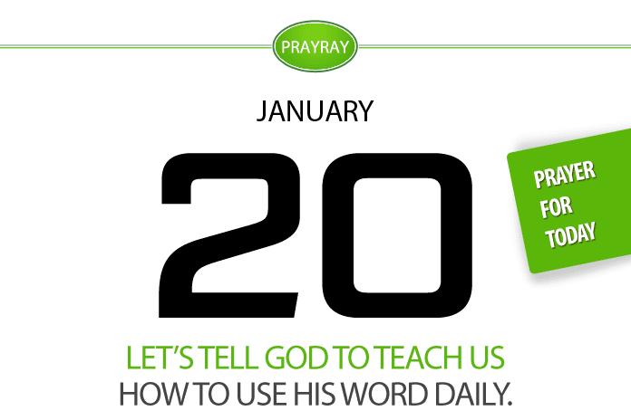 Daily prayer God teach us