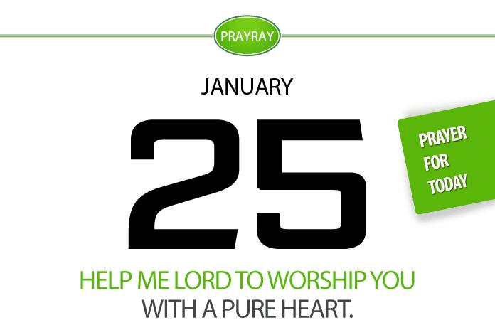 Daily prayer worshiping God