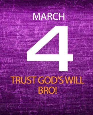 Trust God's will bro