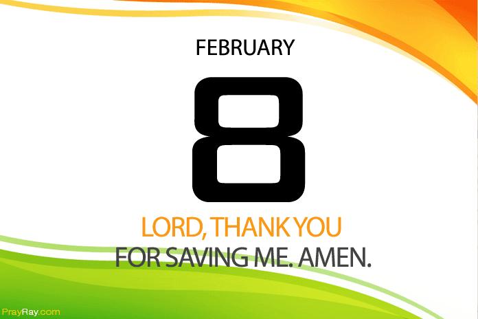 Daily prayer God saves us