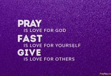lent prayers during 40 days faithful