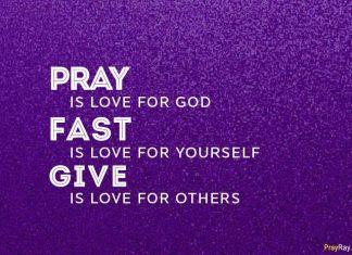 lent prayers during 40 days faithful