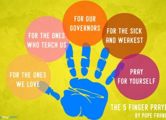 Five finger prayer by Francis