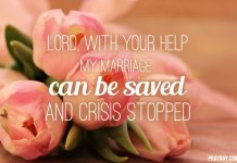 Prayer to save marriage from divorce