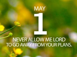 Stay focused on Jesus prayer