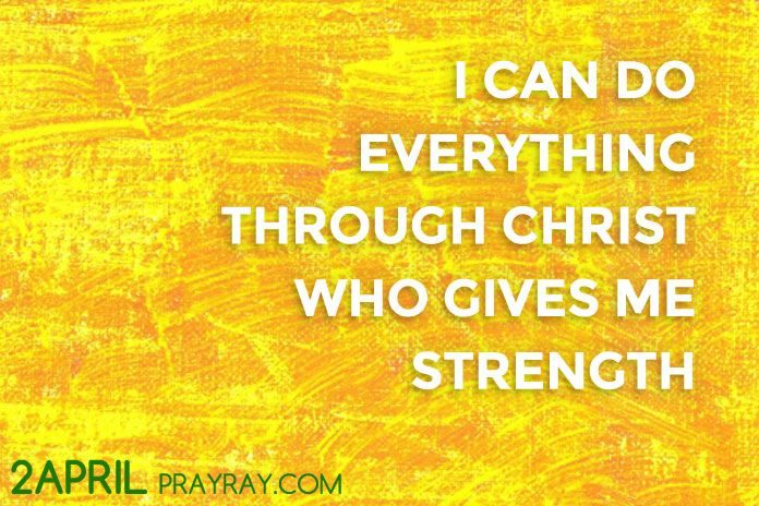I CAN DO EVERYTHING Through Christ Who Gives Me Strength Prayer
