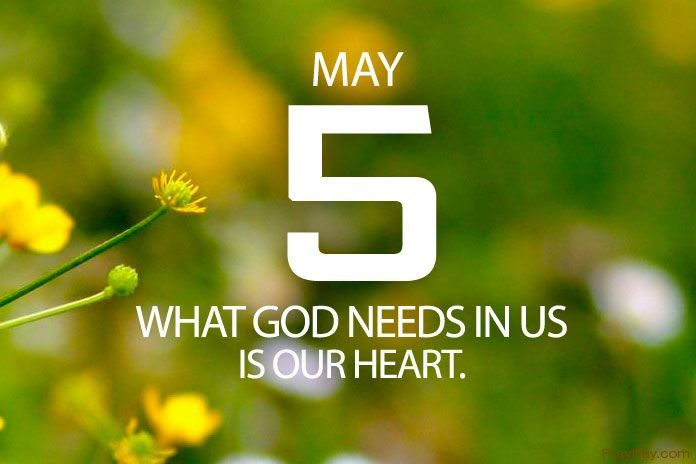 SEEKING GOD'S WILL AND DIRECTION Prayer for May 5