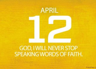 Speaking words of faith daily