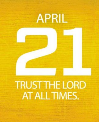 trust the Lord at all times
