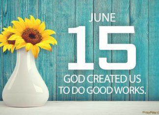 God created us to do good works