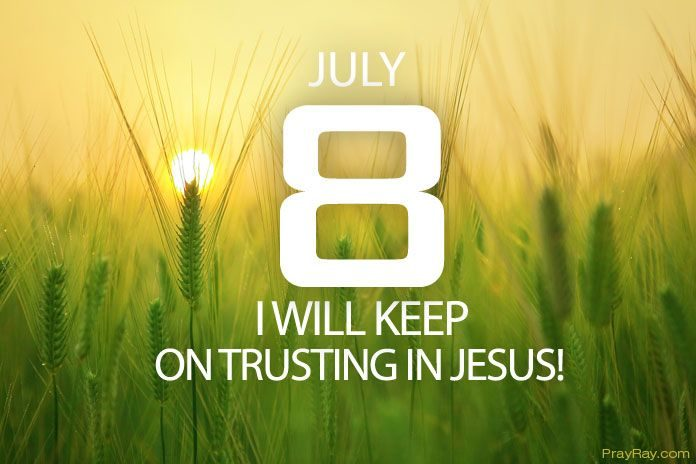 keep on trusting in Jesus