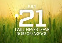 God does not abandon us
