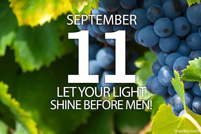 let your light shine before men
