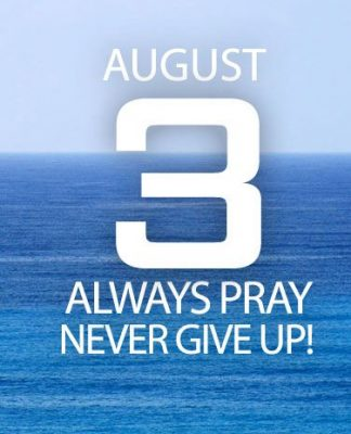always pray, never give up