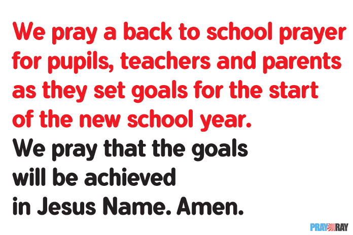 BACK TO SCHOOL PRAYER for Teachers, Pupils and Parents