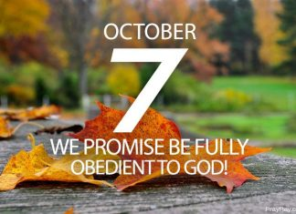 be fully obedient to God