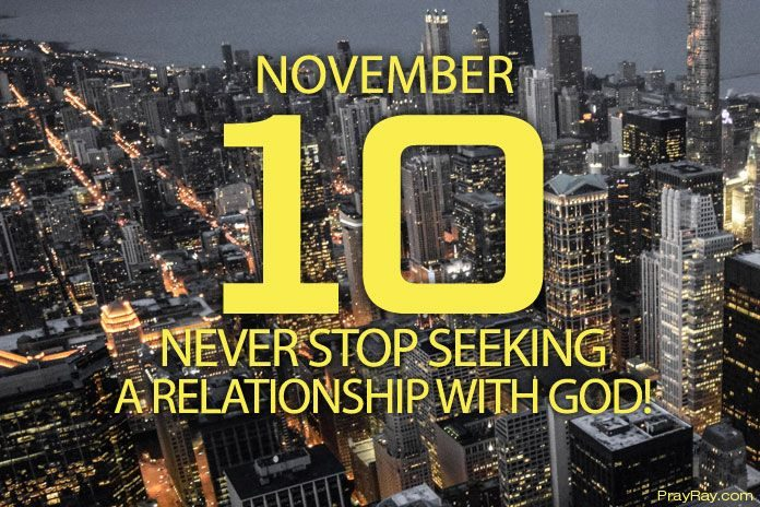 seeking a relationship with God
