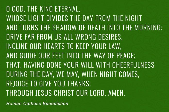 Roman Catholic Benediction prayer example
