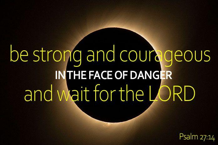 pray in the face of danger