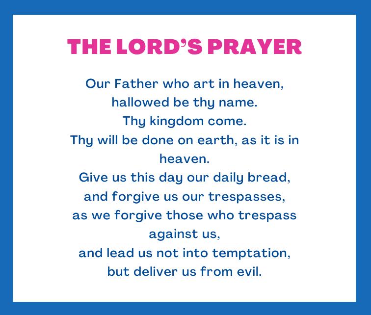 everyday prayer The Lord's Prayer