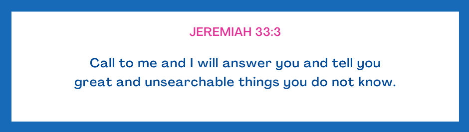 Jeremiah Prayer for today