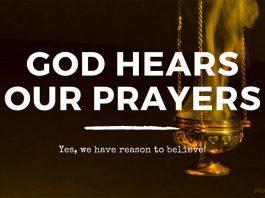 God hears our prayers bible verse